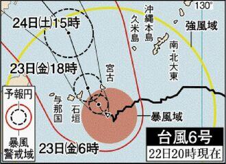 台風6号進路図