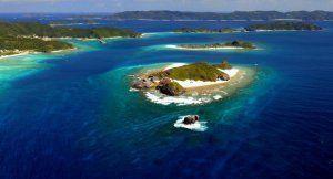 国立公園満喫プロジェクトに選定された慶良間諸島国立公園の海域=2014年2月