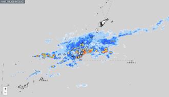 9日午後2時50分頃の雨雲の動き(気象庁HPより引用)