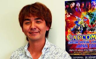 「CAPCOM LIVE!」への来場を呼び掛ける仲間将太=那覇市・沖縄タイムス社