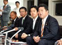「馬毛島へ普天間訓練移転を」 下地幹郎議員が副知事と会談