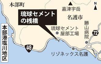 琉球セメントの桟橋