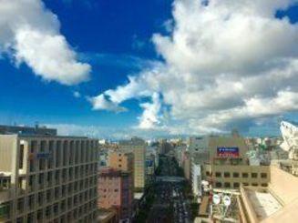 那覇市内は晴れています