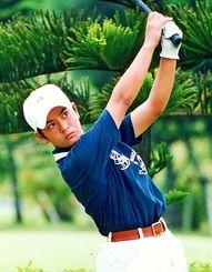 <中学2年>沖縄ジュニアゴルフ選手権中学の部を制した東中2年当時