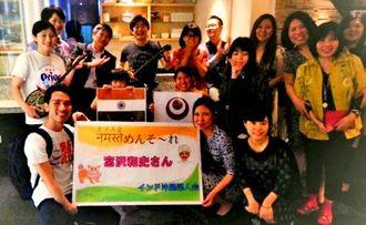 初めてのインド訪問となった宮沢和史さんを歓迎するインド沖縄県人会のメンバー