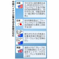 【深掘り】中国通信大手幹部を拘束 米強権、広がる中国包囲網 日本企業も取引リスク