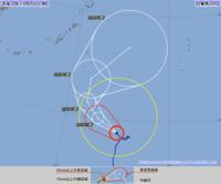 台風28号(マンニィ)暴風域を伴い西北西へ