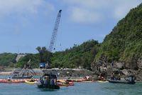 「声上げ続ける」海で陸で抗議 辺野古護岸着工から1カ月