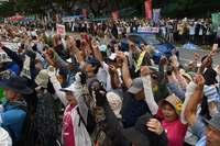 「沖縄の思い、踏みにじられる」新基地工事を批判 辺野古で抗議集会