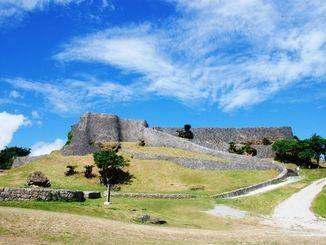 世界遺産の勝連城跡