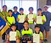 男女沖縄東 全国切符 テニス県中学新人