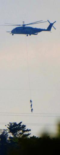 米軍ヘリ、3兵士つり下げ飛行 キャンプシュワブ