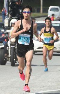おきなわマラソン:ぶっつけ本番、光る大西毅の勝負勘