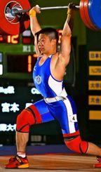 男子69キロ級 初優勝した宮本昌典のジャーク
