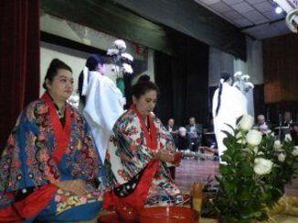 献楽や献花、献茶の儀を行い、先人をしのんだ開拓先没者追悼慰霊祭=ブラジル・サンパウロ市内