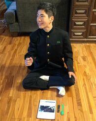今年3月の高校入試当日の仲村伊織さん。2度不合格になっているが、今も高校進学に強い意欲を示している=北中城村の自宅(家族提供)