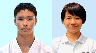 喜友名朝博(写真左)と運天葉月