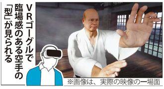 VRゴーグルで見られる空手の「型」のイメージ