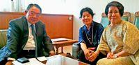 来年の日本文化祭成功へ 沖縄・欧州文化連合会の西平代表、パリ会員と交流