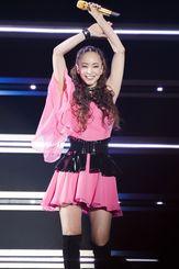 最後のライブツアーで笑顔を見せる安室奈美恵=6月2日、東京ドーム