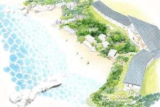 星野リゾートが読谷村にオープンする「バンタカフェ」のイメージ図(星野リゾート提供)