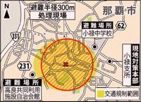 民家敷地で見つかった旧日本軍製の不発弾 あす那覇市内の現地で爆破処理 午前10時から交通規制