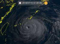 台風8号:石垣島地方に暴風警報、公立小中学校などは臨時休校