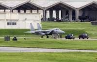 自衛隊のF15戦闘機、嘉手納基地に着陸