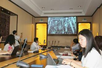 朝鮮半島出身者の戦時徴用の実態を巡るイベント=2日、ジュネーブ(共同)