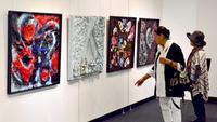 創作の成果、タイムスギャラリーで披露 「NORI絵画展」29日まで