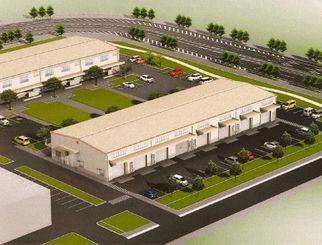 県の素形材産業振興施設2・3号棟の完成予想図(県ものづくり振興課提供)