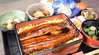 鰻重の特上(税込み3千円)。ひつまぶし(特上・税込み3700円、上・2700円)も人気