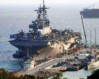 F35搭載揚陸艦 うるまに初寄港/昨年日本配備「ワスプ」