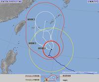 大型で非常に強い台風24号(チャーミー) 先島は28日、本島は29日暴風へ