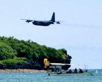 米空中給油機か 海上を低空飛行/辺野古沖