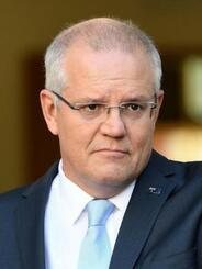 オーストラリアのモリソン首相(ゲッティ=共同)