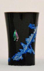 青い海とペンペンのうるしカップ ©カラー
