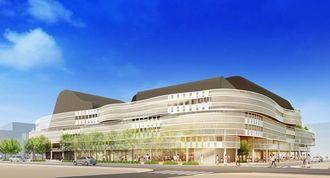 新市民会館の外観イメージ(那覇市提供)