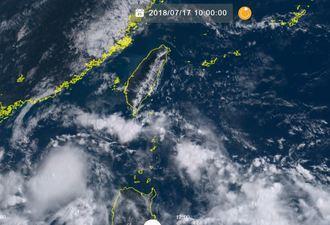 17日午前10時現在の台風9号(NICTひまわり8号リアルタイムwebから)