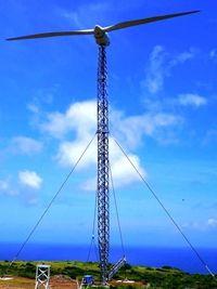 愛称「風粟くん」命名 粟国の風力発電