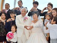 「あなたがいるから、僕がいる…」 76歳夫婦、愛の誓い再び 沖縄で「バウリニューアル」