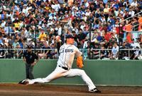 1万4000人が興奮 プロ野球公式戦で、沖縄県勢いきいき 始球式もワクワク