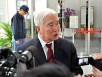 沖縄県民投票「与野党双方が折り合いを」 県議会議長、県三役と面談