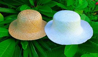 戦前の制作方法などを参考にして作られたパナマ帽(木村麗子さん提供)