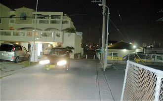 タクシー強盗発生事件の現場(2008年)