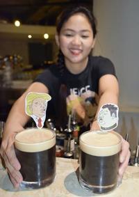 米朝首脳会談祝い、Tシャツに酒 シンガポールで商品続々
