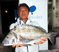 [有釣天]大型チンのシーズン到来 浦添・なうら橋付近で1.78キロをゲット