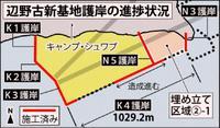 辺野古N3護岸完成 埋め立ては沖縄産土砂使用へ 条例規制の対象外【深掘り】