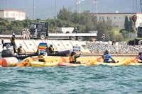「サンゴ殺すな」辺野古海上で大規模抗議 工事中止求めカヌー44艇・船8隻