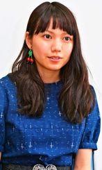 映画「私の男」をPRする二階堂ふみ=那覇市牧志・桜坂劇場